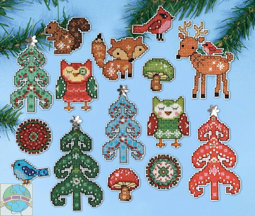 Design Works - Woodland Friends Ornaments (6)