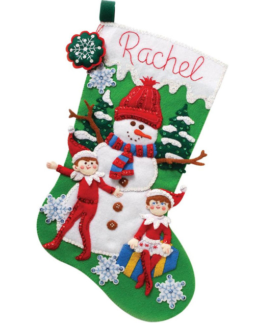 Elf on the Shelf - Snowman and Scout Elf Stocking