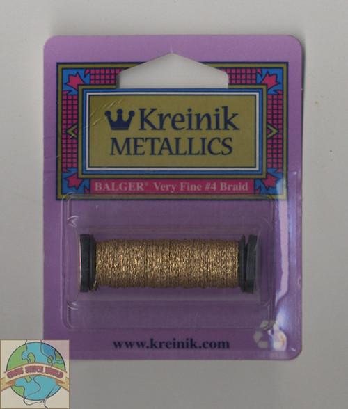 Kreinik Metallics - Very Fine #4 Vintage Gold 002V