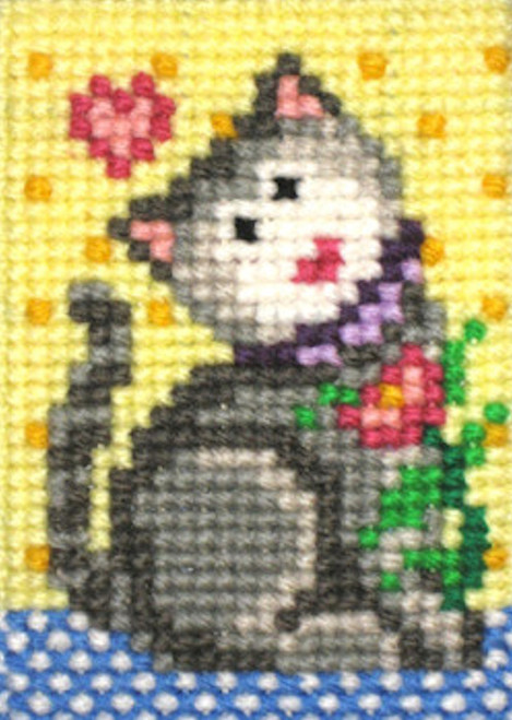 Candamar EZ Stitchin' - Kitten & Flower