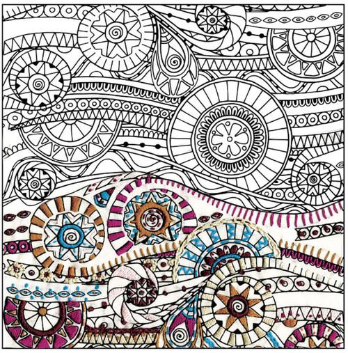 "Design Works - Zenbroidery Waves 10"" x 10"""
