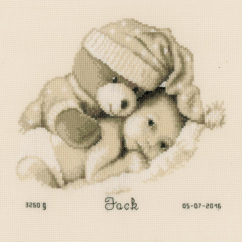 Vervaco - Baby & Teddy Birth Record