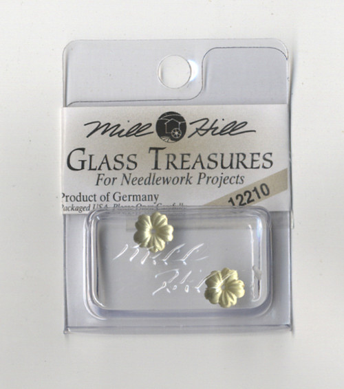 Mill Hill Glass Treasures - Petite Flower Matte Light Topaz