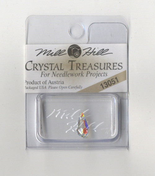 Mill Hill Crystal Treasures - Very Small Teardrop Crystal AB