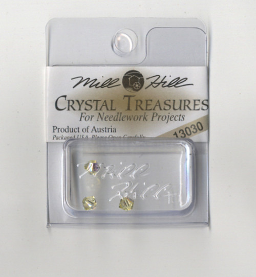 Mill Hill Crystal Treasures - Rondele Jonquil AB