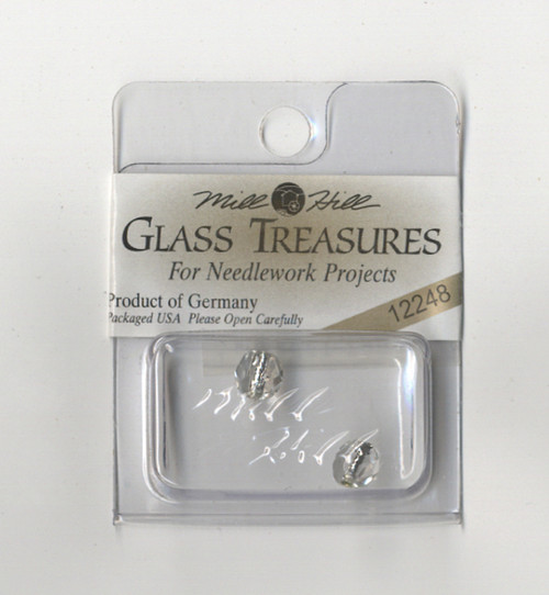 Mill Hill Glass Treasures - Round Cut LinedBead Crystal/Silver
