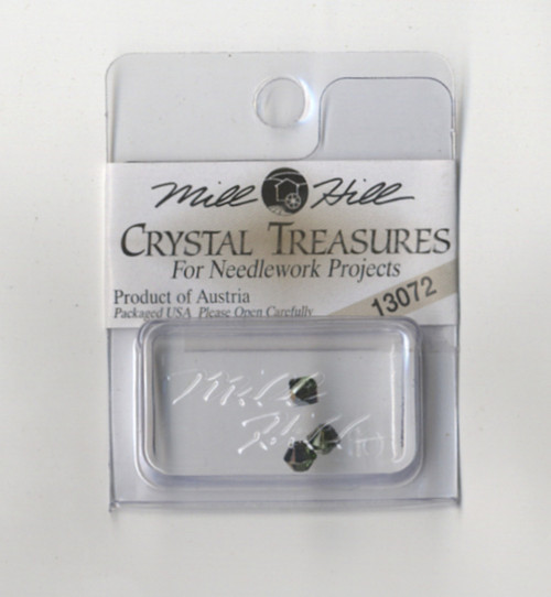Mill Hill Crystal Treasures - Rondele Peridot / Citrine