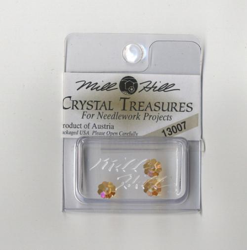 Mill Hill Crystal Treasures - Margarita Topaz Flowers AB