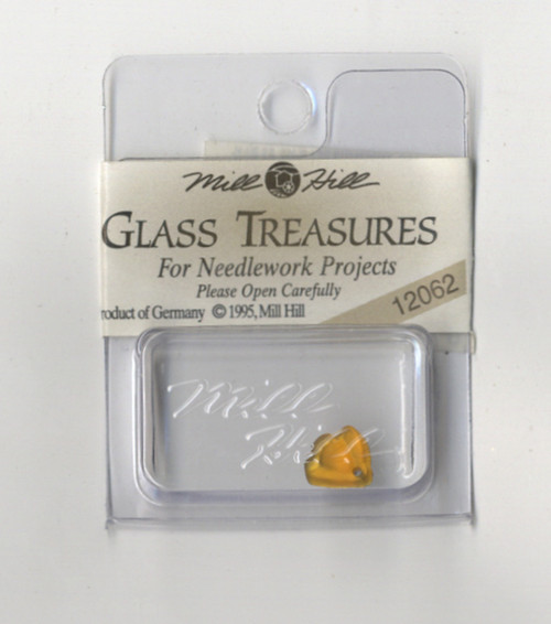 Mill Hill Glass Treasures - Flat Bell Flower Light Topaz