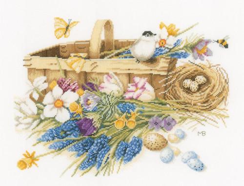 LanArte - Marjolein Bastin Spring Flowers Basket (Evenweave)