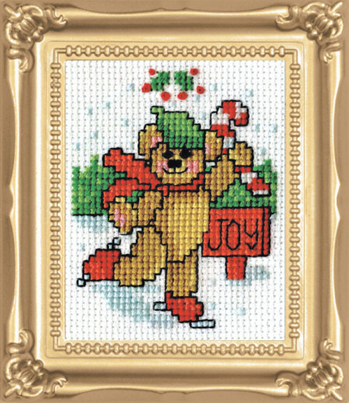 Design Works - Joy Bear Picture Kit w/Frame