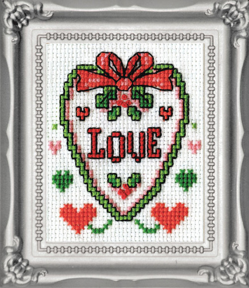 Design Works -  Love Picture Kit w/Frame