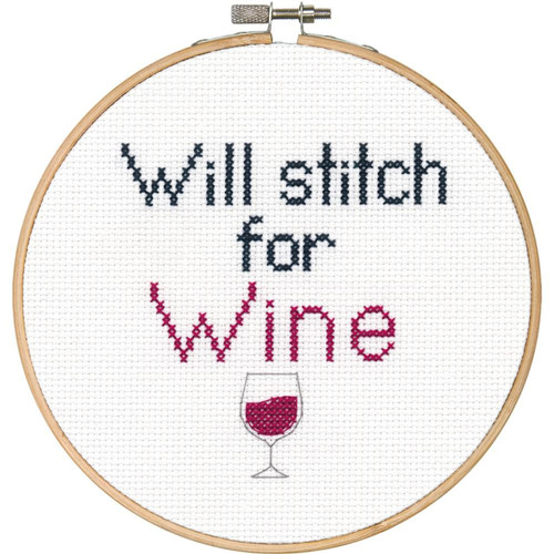 "Dimensions ""Say It!"" - Stitch for Wine"
