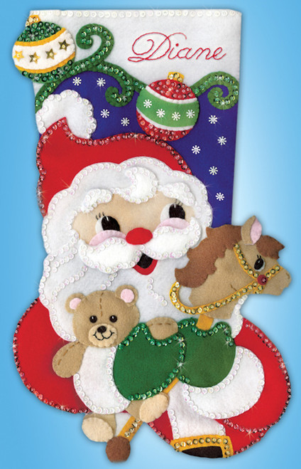 Design Works - Santa With Toys Stocking