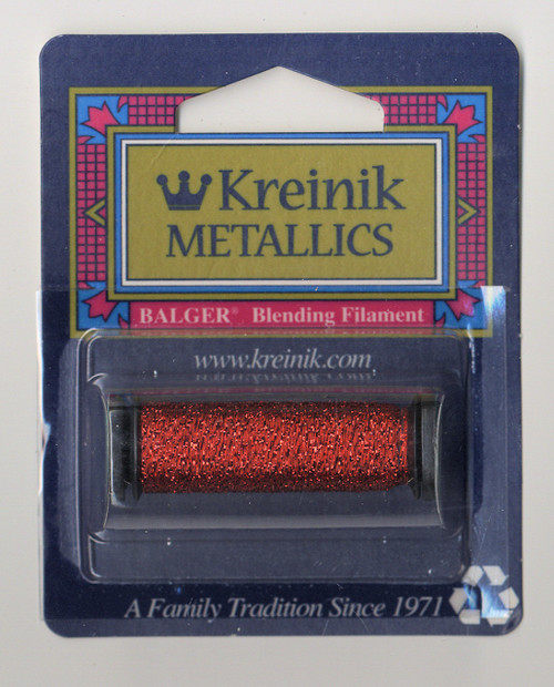 Kreinik Metallics Blending Filament - Red 003