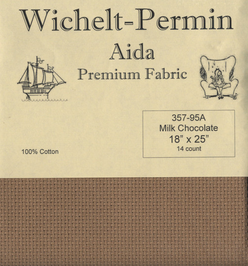 Wichelt - 14 Ct Milk Chocolate Aida 18 x 25 in