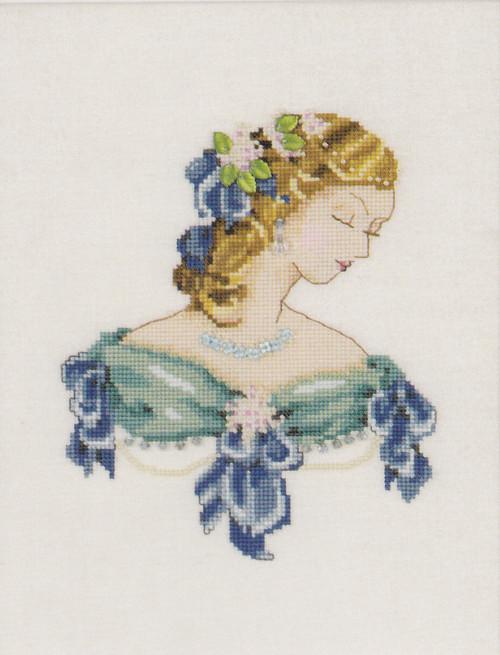 Nora Corbett - Portrait of Lauren in Blue