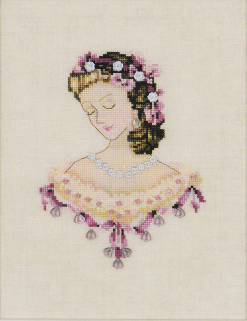 Nora Corbett - Portrait of Caroline in Pink