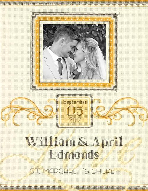 Dimensions - Elegant Flourish Wedding Record