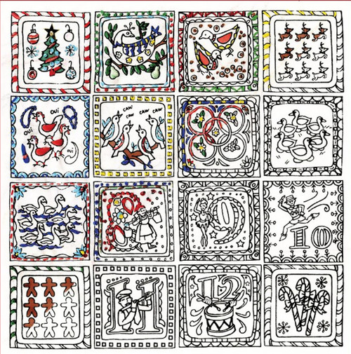 "Design Works - Zenbroidery 12 Days of Christmas 10"" x 10"""