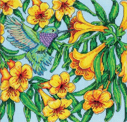 Design Works - Hummingbird & Flowers