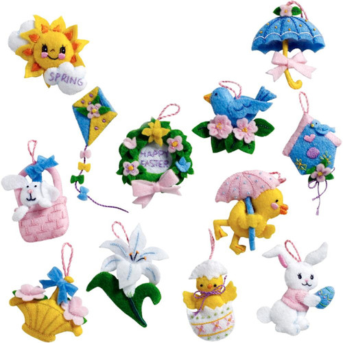 Plaid / Bucilla - Mini Easter Ornaments (set of 12)