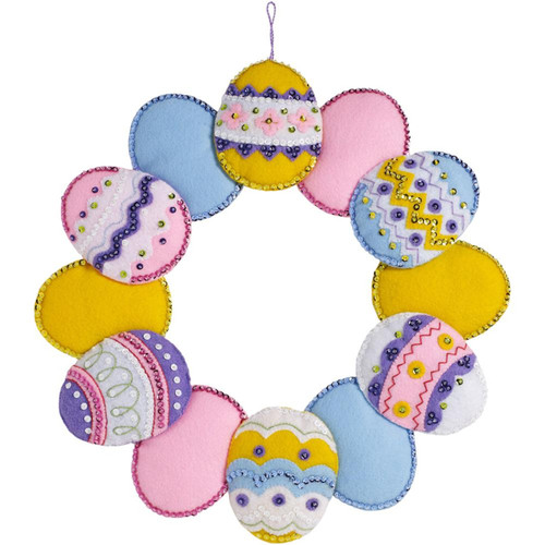 Plaid / Bucilla - Easter Egg Wreath