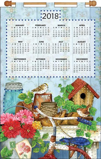 Design Works - Bicycle Floral 2018 Calendar