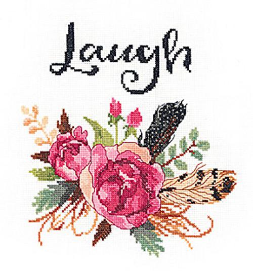 Janlynn - Watercolor Flowers Laugh