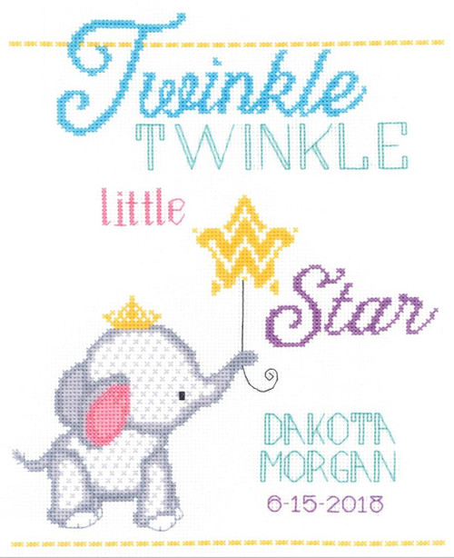 Janlynn - Twinkle Twinkle Little Star Birth Announcement