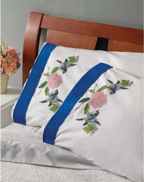 Plaid / Bucilla - Waverly Charmed Pillowcases (2)