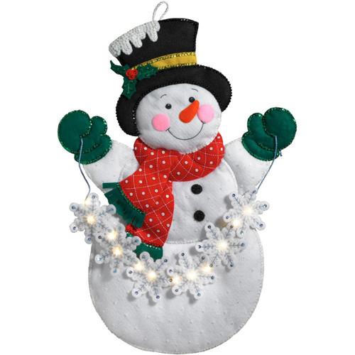 Plaid / Bucilla - Snowflake Snowman Wall Hanging