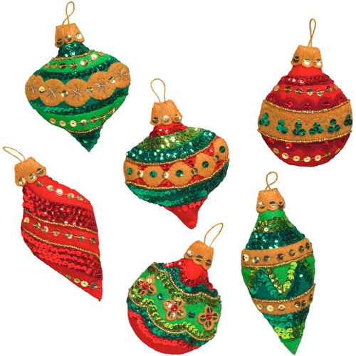 Plaid / Bucilla - Glitzy Ornaments