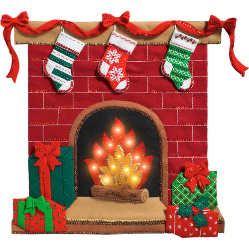Plaid / Bucilla - Fireside Glow Wall Hanging