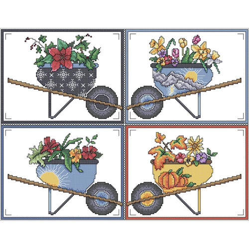 Vickery Collection - Wheelbarrow Seasons