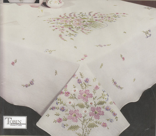 Design Works - Floral Grandeur 50in x 50in Tablecloth