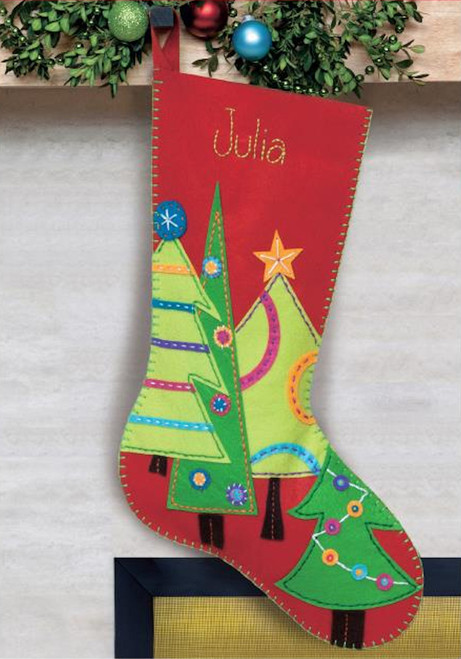 Dimensions -  Festive Tree Stocking