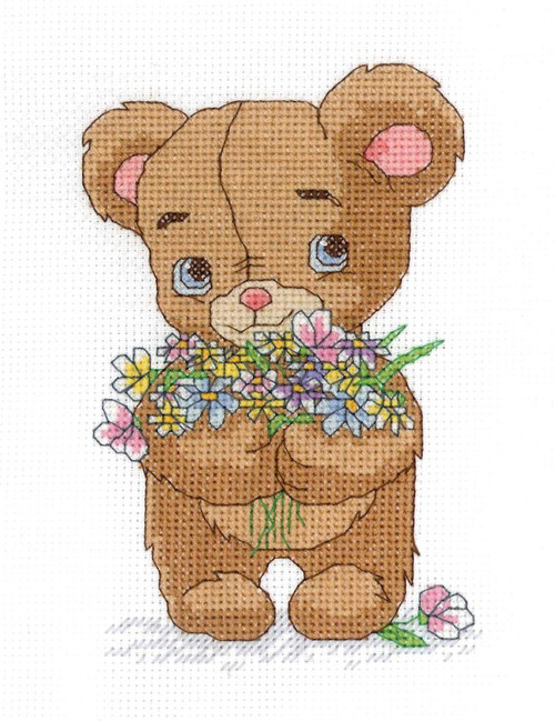 Janlynn - Bear with Bouquet