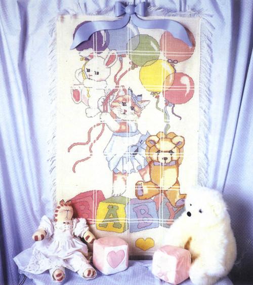 <font size=4>Candamar - Bunny Cat Bear Afghan