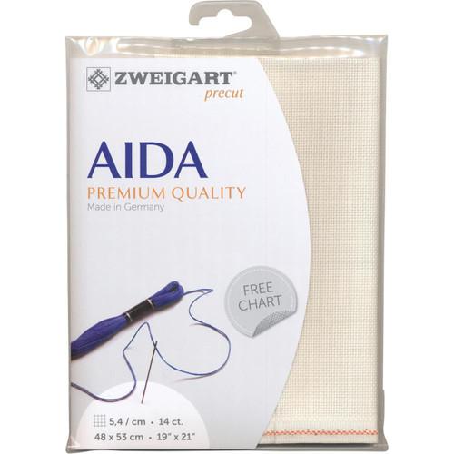 Zweigart - 14ct Cream Premium Quality Aida 19 x 21 in