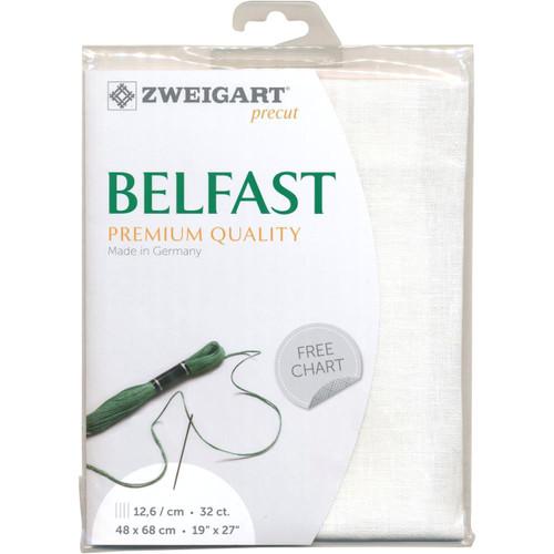 Zweigart - 32 Ct  White Belfast Premium Quality Linen 19 x 27 in