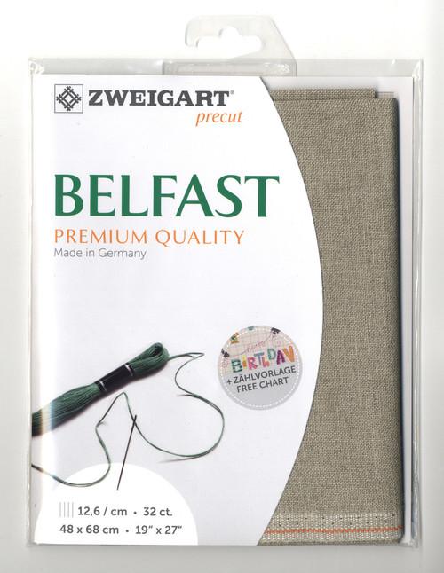Zweigart - 32 Ct  Raw Belfast Premium Quality Linen 19 x 27 in