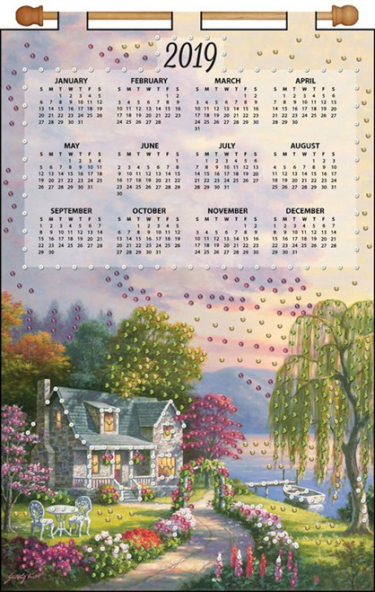 Design Works - Cottage 2019 Calendar