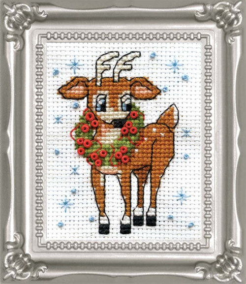 Design Works -  Reindeer Picture Kit w/Frame