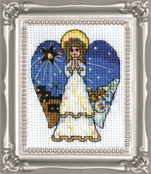 Design Works -  Angel Picture Kit w/Frame