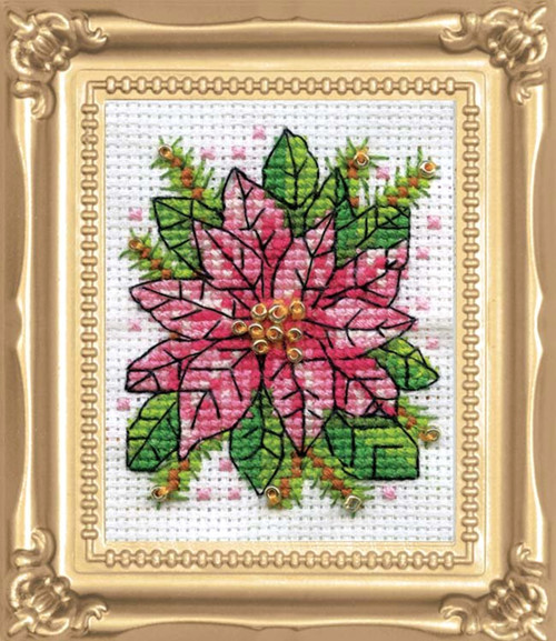 Design Works -  Poinsettia Picture Kit w/Frame