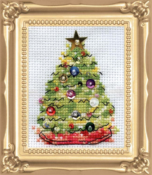Design Works -  Christmas Tree Picture Kit w/Frame