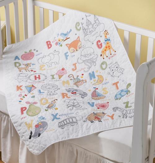 Plaid / Bucilla -  ABC Baby Crib Cover