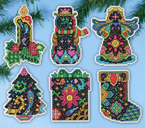 Design Works - Christmas Fantasy Ornament Set (6)