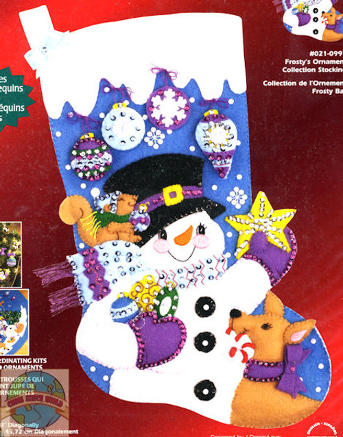 Janlynn - Frosty's Ornament Collection Stocking